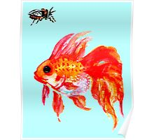 Cicada and Goldfish Poster
