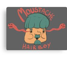 Moustache Hairboy Canvas Print