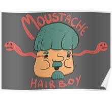 Moustache Hairboy Poster