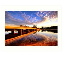 Mirror - Narrabeen Lakes - The HDR Series Art Print