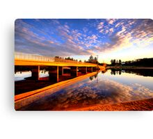 Mirror - Narrabeen Lakes - The HDR Series Canvas Print