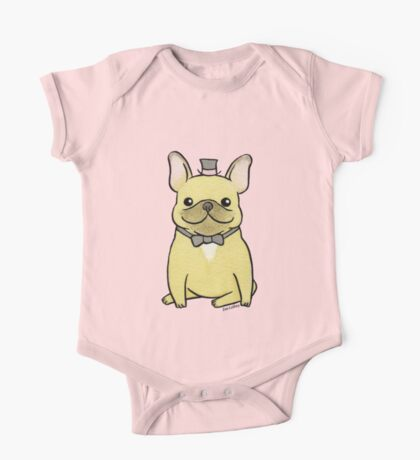 French Bulldog - The Little Gentleman One Piece - Short Sleeve