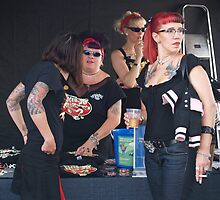Rockabilly Chicks by Sally P  Moore