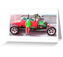 Rat Fink colored Greeting Card
