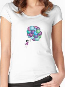Hunting for clouds Women's Fitted Scoop T-Shirt