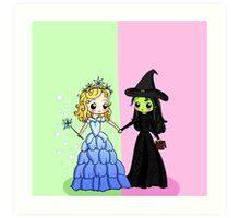 Elphaba & Glinda Art Print