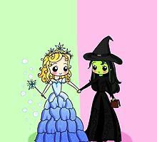 Elphaba & Glinda by iheartcory