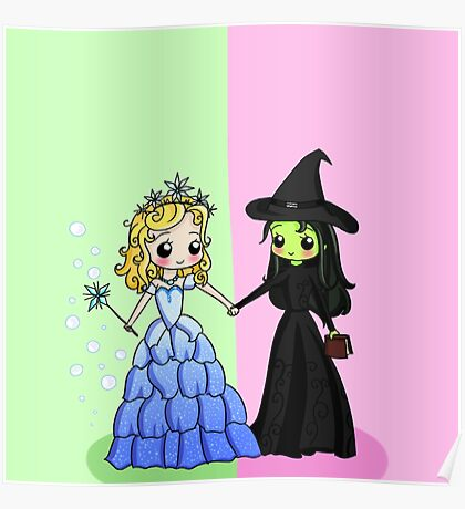 Elphaba & Glinda Poster