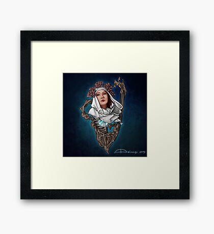 The Flower Crown Framed Print