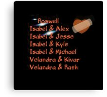 roswell tv show Isabel and her many loves Canvas Print