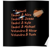 roswell tv show Isabel and her many loves Poster