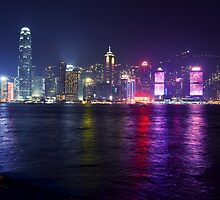 Hong Kong Skyline by Out0fFocus