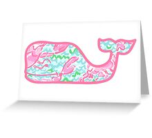 Lilly Pulitzer Whale Lobstah Roll Greeting Card