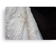 the wedding gown details Canvas Print