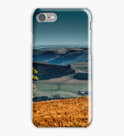 View to the North East from above Yair Bridge, Scottish Borders iPhone Case/Skin