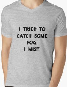 Weather Pun Mens V-Neck T-Shirt