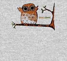 Don't Shoot Owl Womens Fitted T-Shirt