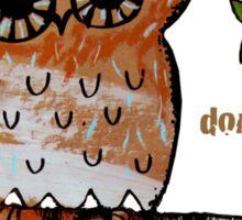 Don't Shoot Owl Sticker