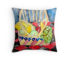 still life fruit Throw Pillow