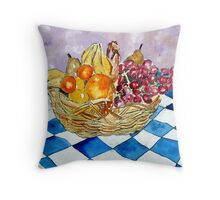 still life fruit 2 Throw Pillow