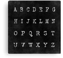 Alphabet in Black Canvas Print