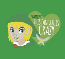 WARNING this fangirl is CRAZY! (with girly Link and fairy) One Piece - Short Sleeve