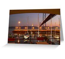 Lisbon Docks Greeting Card