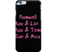 roswell tv show Max & his man Loves iPhone Case/Skin