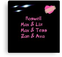 roswell tv show Max & his man Loves Canvas Print