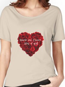 Heart and Flowers kind of girl Women's Relaxed Fit T-Shirt