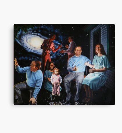 "Surreal Illumination Beyond Ursa Major - oil on canvas - 40"" x 32"" Canvas Print"