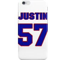 National football player Justin Tuggle jersey 57 iPhone Case/Skin