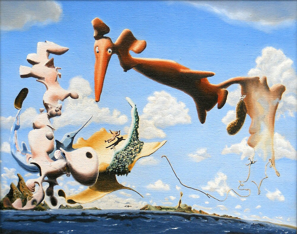"""Surreal Friends - oil on canvas - 20"""" x 16"""" by Dave Martsolf"""