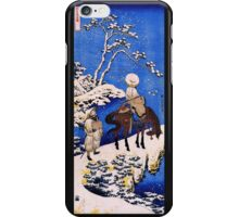 'The Poet Teba on a Horse' by Katsushika Hokusai (Reproduction) iPhone Case/Skin