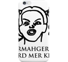 Ermahgerd Er Nerd Mer Kerfer! Ermahgerd Girl. Oh My God I Need My Coffee!! iPhone Case/Skin