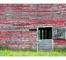 The old barn door. Photographic Print