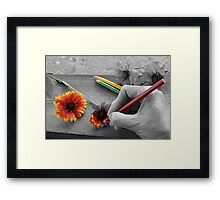Staying Inside the Lines Framed Print
