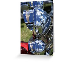 Harley Headlights Greeting Card