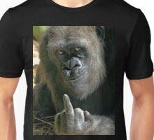 gorrila giving the bird Unisex T-Shirt