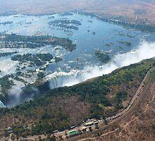 Victoria Falls, border of Zambia and Zimbabwe by leet