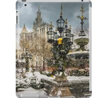 Snowstorm At City Hall iPad Case/Skin