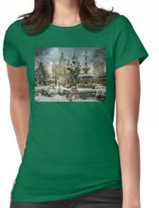 Snowstorm At City Hall Womens Fitted T-Shirt