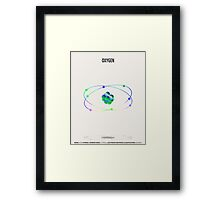 Oxygen - Element Art Framed Print
