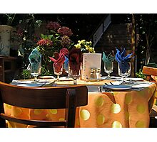 Dinner for Six Photographic Print