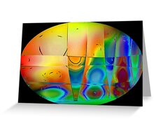 Colours in Reflection-Art Prints-Mugs,Cases,Duvets,T Shirts,Stickers,etc Greeting Card