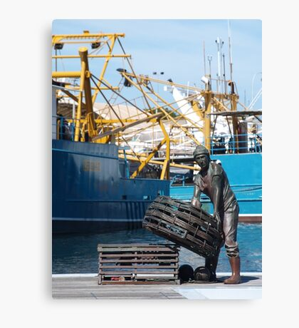 Fremantle Fishing Harbour Canvas Print