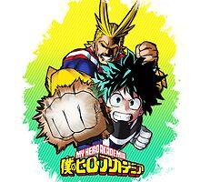 Boku no Hero Academia - All Might & Izuku Version 1 by Onimihawk