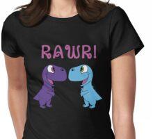 Dinosaur Love Womens Fitted T-Shirt