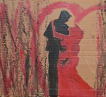 Black and Red Love Dance by LOVE Art Wonders