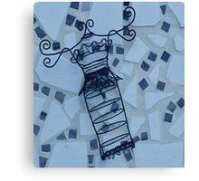 Blue Elegance - Plate No.# I Canvas Print